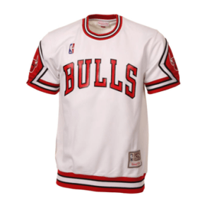 buy online 9f5e2 e28b5 Mitchell & Ness | Chicago Bulls | Hardwood Classics | Authentic Shooting  T-Shirt | White
