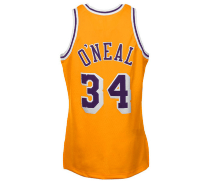 differently 28df7 4026a Mitchell & Ness   Los Angeles Lakers   Shaquille O'Neal   1996-97 Throwback    Authentic Home Jersey   Gold