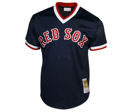 timeless design 383ae a2325 Mitchell & Ness | Boston Red Sox | Ted Williams | 1990 Authentic  Cooperstown Collection | Batting Practice Jersey | Navy Blue | Gent's & G's