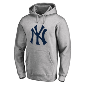 New York Yankees Fanatics Branded Heathered Gray Primary Logo Pullover Hoodie