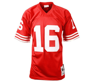 check out 7e1d3 a2ad9 Mitchell & Ness | San Francisco 49ers | Joe Montana | Authentic Throwback  Jersey | Scarlet | Gent's & G's