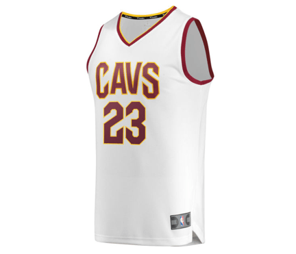 info for 80ea7 144ac Fanatics Branded | Cleveland Cavaliers | LeBron James | Fast Break |  Replica Jersey | White | Gent's & G's