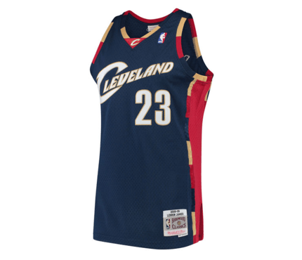 detailed look ded5c 8e394 Mitchell & Ness | Cleveland Cavaliers | LeBron James | 2008-09 Hardwood  Classics | Swingman Jersey | Navy | Gent's & G's