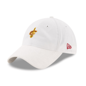 Cleveland Cavaliers New Era White 2017 Official On-Court Collection 9TWENTY Adjustable Hat