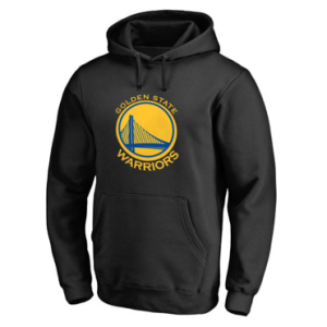 Golden State Warriors Black Primary Logo Pullover Hoodie