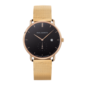 Grand Atlantic Line Black Sea IP Gold Mesh Strap IP Gold