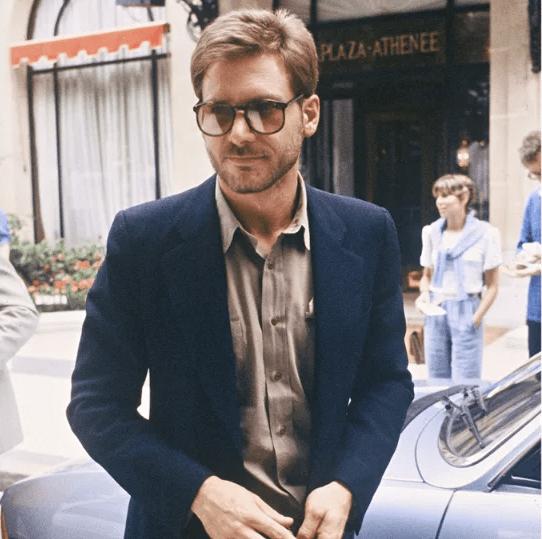 Harrison Ford in a Blue Blazer