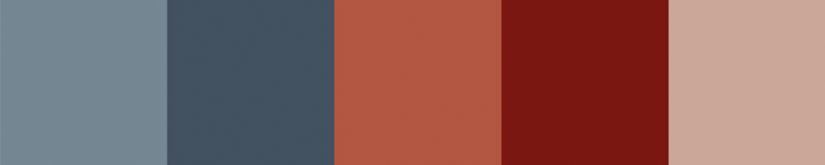 Bold color palette.