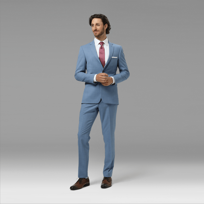 Light Blue Men's Suit | Postman Blue