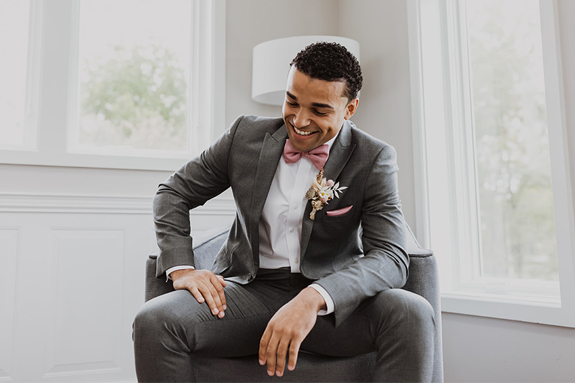man in gray generation tux suit