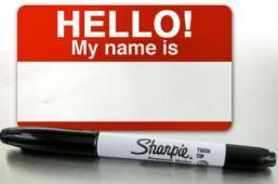 """""""Hi, my name is …"""""""