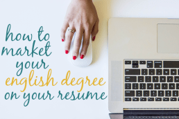 How to Market Your English Degree
