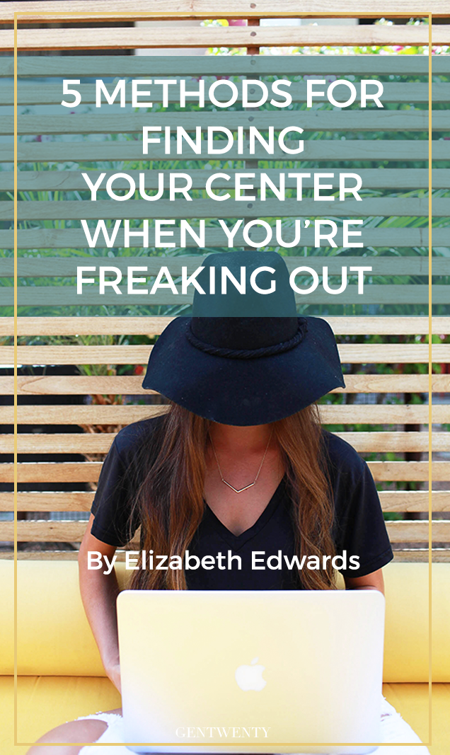 A lump rises in your throat, your heart beats faster, and your hands begin to feel clammy - you physically feel yourself starting to freak out. It happens. Here are 5 well-researched methods for coming back to your center.