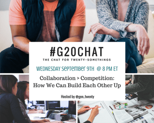 #G20Chat September 9th: Collaboration > Competition