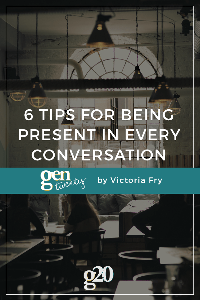 Are you engaging with the people right in front of you? 6 tips for being a better listener >>