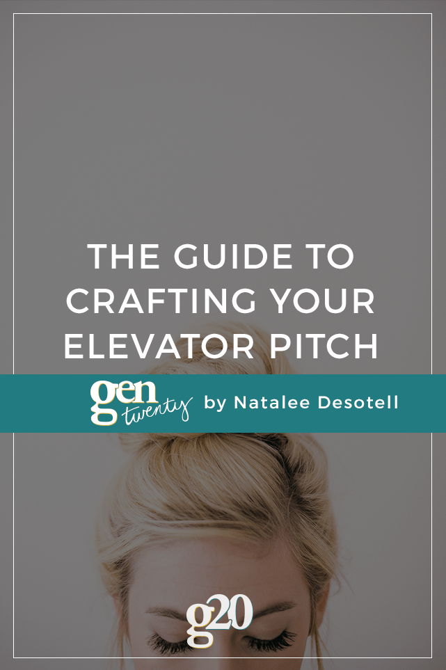 the guide to crafting your elevator pitch. Black Bedroom Furniture Sets. Home Design Ideas