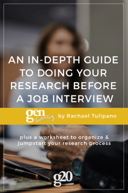 An In-Depth Guide to Doing Your Research Before an Interview (with a worksheet!)