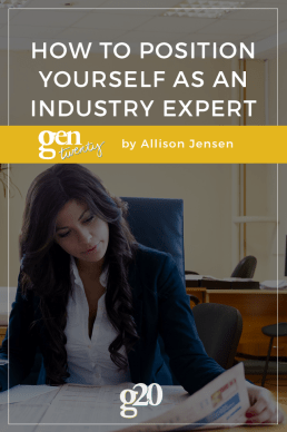 How To Position Yourself as an Industry Expert