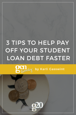 3 Tips To Help Pay Off Your Student Loan Debt Faster