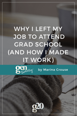 What I Learned After Leaving My Job To Attend Grad School