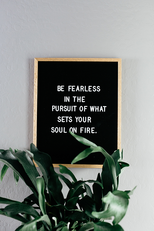Be fearless in pursuit of what sets your heart on fire.