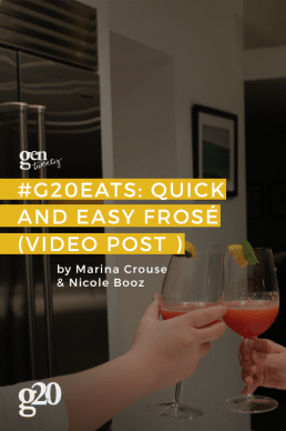 #G20Eats: Quick and Easy Frosé (Video Post)