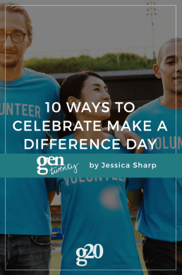 10 Ways To Celebrate Make A Difference Day
