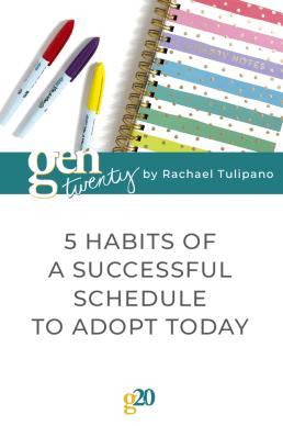 5 Habits Of A Successful Schedule