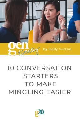10 Conversation Starters To Make Mingling Easier
