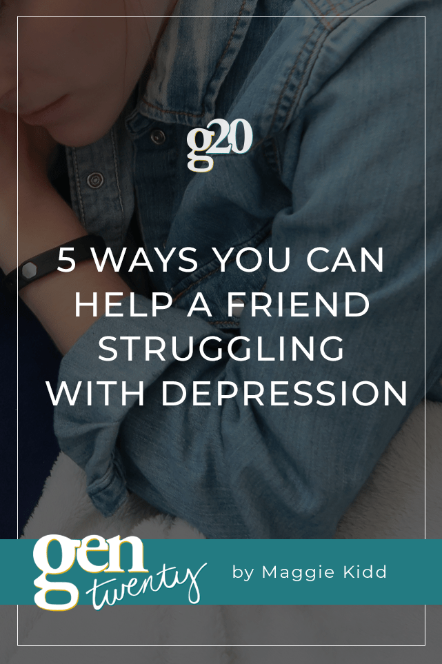 5 Ways You Can Help A Friend Struggling With Depression (girl laying on couch with title overlaid)