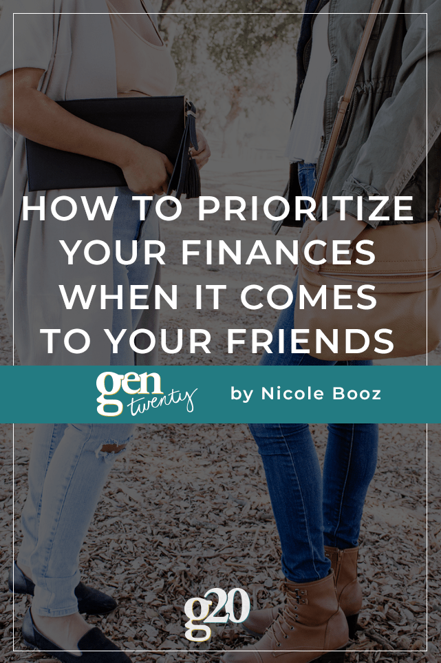 title photo: How To Prioritize Your Finances When It Comes To Your Friends