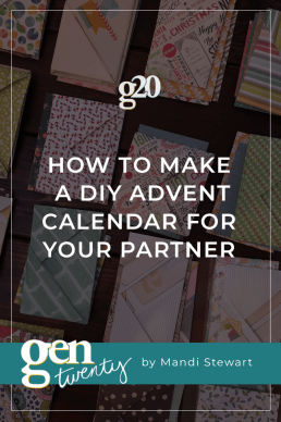 How To Make a DIY Advent Calendar For Your Partner