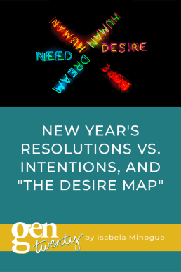 """New Year's Resolutions vs. Intentions, and """"The Desire Map"""""""