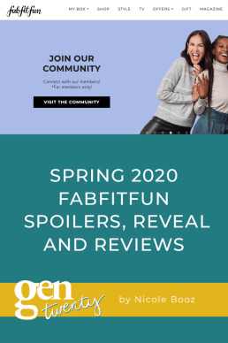 Spring 2020 FabFitFun FULL Spoilers, Reveal and Reviews
