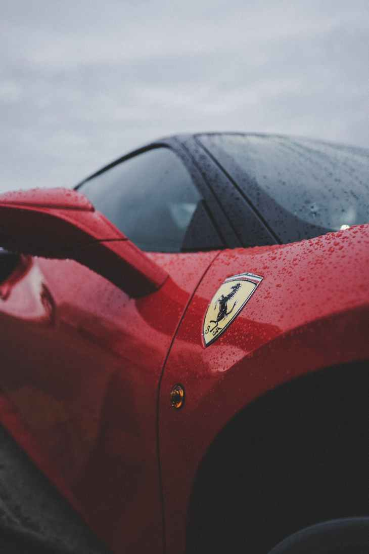 red ferrari car