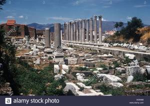 Ruins of the Agora at Smyrna in West Turkey
