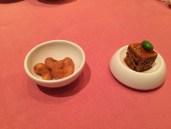 Amuse Bouche - Spicy Crispy Tofu, Cashe Nuts