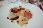 Quail breast and confit leg, white asparagus, morels, hazelnuts