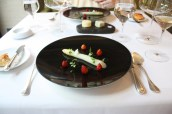 White asparagus, Wild strawberry, Nettle, Chickweed