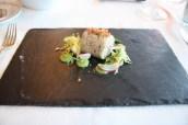 Rabbit rillettes, broccoli, bread crumble