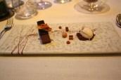 Valrhona Chocolate Mousse with Honeycomb, Peanut Ice Cream and Pedro Ximenez Jelly