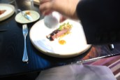 Creedy Carver duck breast - almond satay - ponzu - coriander