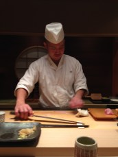 Slicing some sashimi