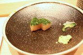 Scallops with Seaweed Powder