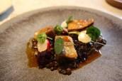 Duck leg, beetroot, cranberry & lentils