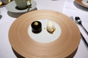 Chocolate delice, yoghurt sorbet and salted caramel