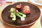 New Season Lamb with Asparagus, Aubergine and Teriyaki Sauce
