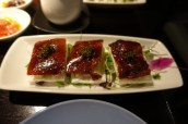 Peking duck with Hakkasan special reserve 'Qiandao' caviar