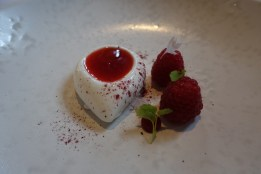 Whipped Buttermilk, Raspberries and Beignet