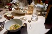 Langoustine, Lobster, Squid, Extract of Crustaceans, Celery, Vegetable Caviar, Fennel